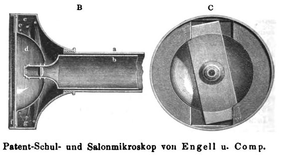 Bononiae Microscope - Engell 465, slide fixing